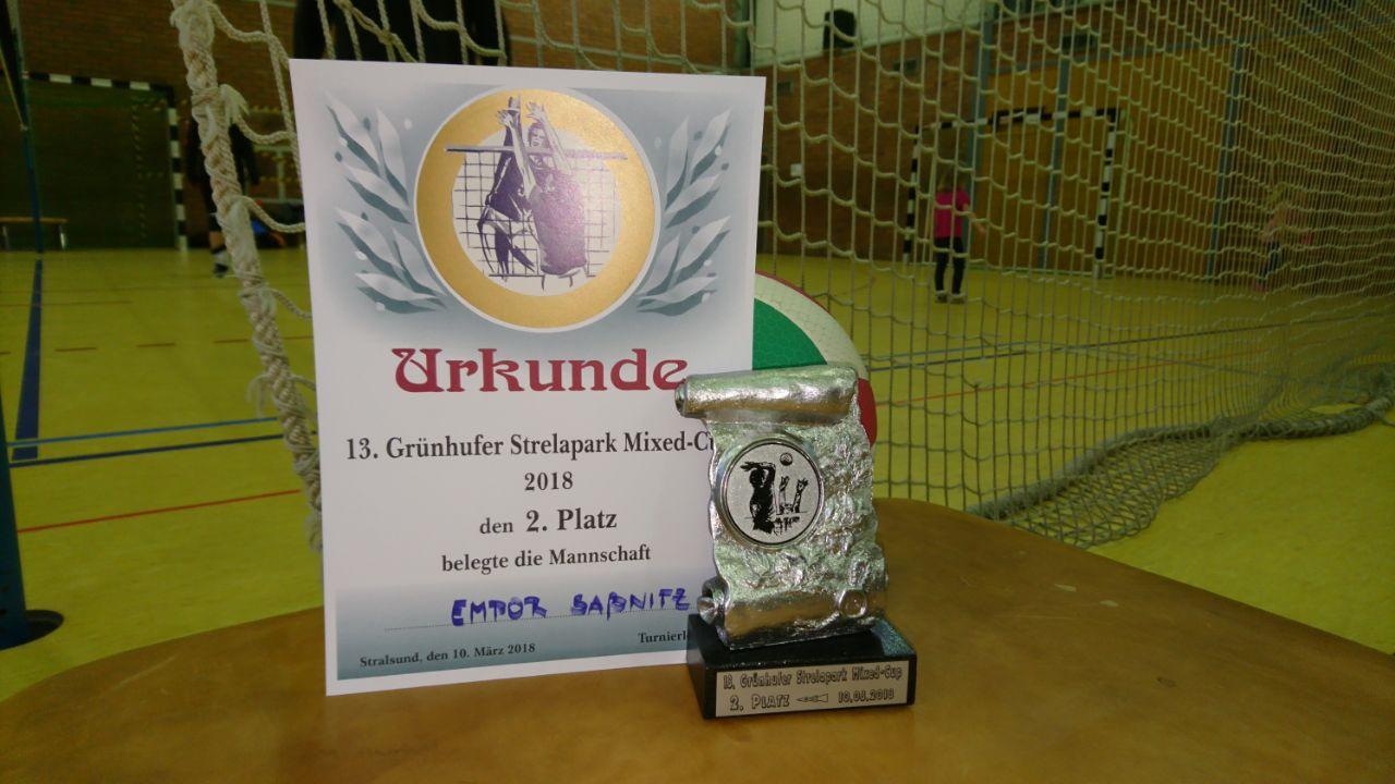 Platz 2 beim Volleyball-Turnier in Stralsund am 10.03.2018